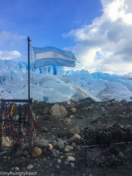AR flag and glacier