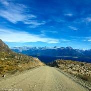 Dirt road to lake argentina